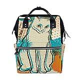 Cat Pop Art - Mochila para pañales para mamá, papá, viaje, escolar, niño, niña, gran capacidad, para mamá, hombres y mujeres