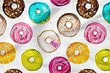 Bedruckte Baumwolle 100% Eco-Print Donut Süßigkeiten