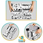 Shop4Mailers 6 x 9 Glossy Thank You Poly Bag Mailer Envelopes 2 Mil (100 Pack, Multi-Language)
