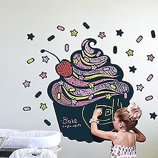 ZOOYOO Fashion Designed Cupcake Shaped Removed Vinyl Blackboard Wall Sticker Kitchen Note Caf�� Menu Blackboard Sticker Kids Room Decoration House Decoration