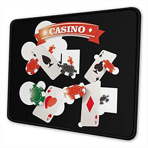 Pearl Bertie Mauspad waschbar – Casino Gambling Mousepad Gaming Non-Slip – Mauspad aus Gummi rechteckig für Computer/Notebook