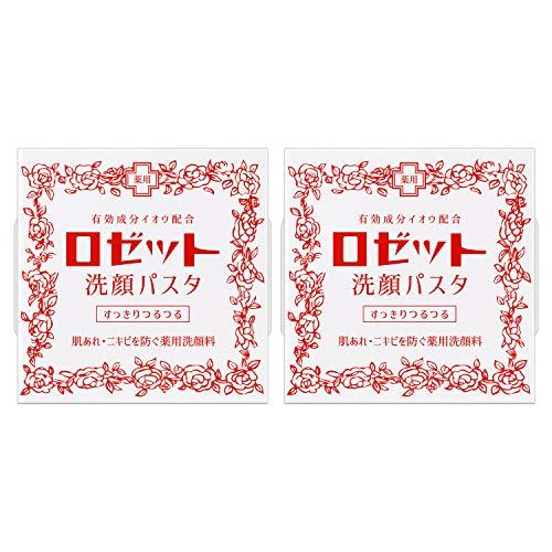 (医薬部外品) ロゼット 洗顔パスタ 普通肌 90g×2個セット (洗顔フォーム ニキビ) イオウ配合