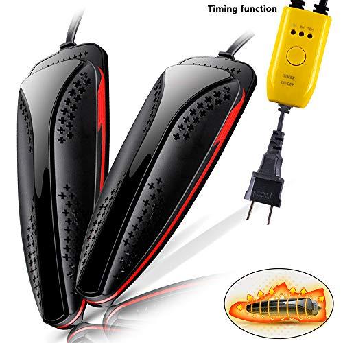 Favson Schuhtrockner, Elektrischer Schuhtrockner, Zeitmesser, Dual Core Heizung, Freie Einstelllänge nzug, Schuhtrockner für warme Füße für Alle Schuhe Entfeuchtung