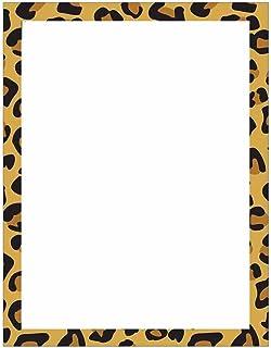 Modern Leopard Animal Print Stationery Letter Paper