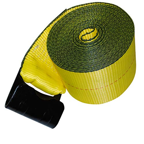 """Shippers Supplies 4"""" x 30' Winch Strap with Flat Hook — 10 Pack"""