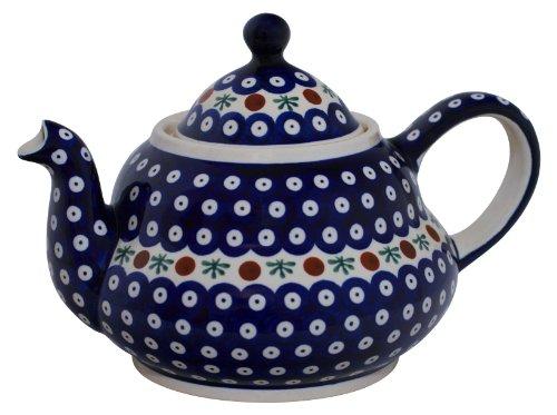Original Bunzlauer Keramik Teekanne 2.0 Liter mit integriertem Sieb im Dekor 41