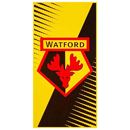 Giant Watford FC Hornets Football Crest Beach Towel (70cm x 150cm & 100% Cotton)