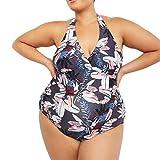 RISTHY Traje de Baño Mujer Tallas Grandes Halter Maternidad Premamá para Mujer Deportes Bañador de Una Pieza Profundo V Pregnancy Bikini Embarazada Conjunto de Bañador Verano