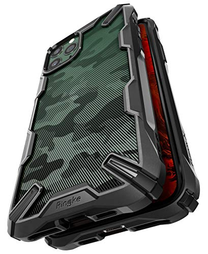 Ringke Fusion X DDP Disenado para Funda Apple iPhone 11 Pro Transparente al Dorso Carcasa iPhone 11 Pro 58 Proteccion Resistente Impactos TPU PC Funda para iPhone 11 Pro 2019 Camo Black