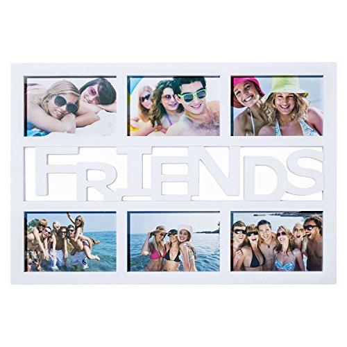 Cornice - XXL Photo Frame Picture Gallery Photo Collage; cornice da galleria con vetro reale per l alta qualità e la presentazione eccellente (Friends - Bianco)