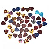 Yibuy マルチカラー 1 Set of 50 セルロイド製 ギターピック 0.46mm thin 楽器用 moyinmusic