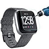 KIMILAR [3-Pack] Screen Protector Compatible with Fitbit Versa/Versa Lite Smart watch, Waterproof Tempered Glass Screen Protector [9H Hardness] [Crystal Clear] [Scratch Resist], Not Fit Versa 2