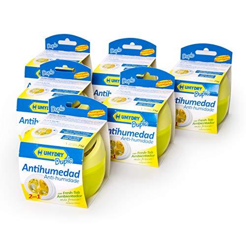 6er-Set HUMYDRY® Duplo 75g Luftentfeuchter Zitrone