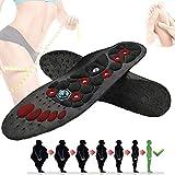 EEUK Magnetfeldtherapie Abnehmen Einlegesohlen Fuß Akupunkturpunkt Therapie Einlegesohle Massagegerät Entlasten Füße Schmerzen Verbessern Die Durchblutung Für Männer Frauen