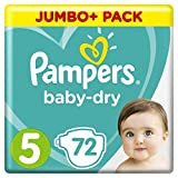 Pampers - Baby Dry - Couches Taille 5 (11-23 kg) - Jumbo+ Pack (x72 couches)