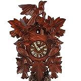 Haus der 1000 Uhren Kuckucksuhr - Dreivogel - 8-Tage-Uhr - mechanischer Antrieb - aus Lindenholz handgefertigt - 2 Jahre Garantie - Original aus dem Schwarzwald