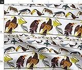 Spoonflower Stoff – Vögel Vintage Tiere Adler Kinder