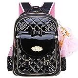Backpack for Girls, Waterproof Kids Backpacks School Bag Toddler Bookbags Cute Travel Daypack (Large, B-Black)