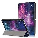 Xuanbeier Huawei MediaPad T3 10 Hülle Hülle-Ultra Dünn & Leicht PU Leder Schutzhülle Cover für Huawei MediaPad T3 10(9,6 Zoll) (Z-Cosmos)
