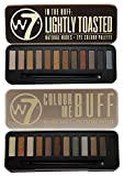 W7 In the Buff Eye Shadow Palette and In the Buff Lightly Toasted Eye Shadow Palette Set by W7