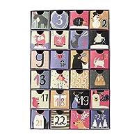 アドベントカレンダー メリークリスマスツリー 2020年を埋めるためのアドベントカレンダーボックス、装飾的なかわいいアドベントボックス、クリスマス限定 ペーパーボックス 休日の装飾とギフトのためのカレンダーギフトケース