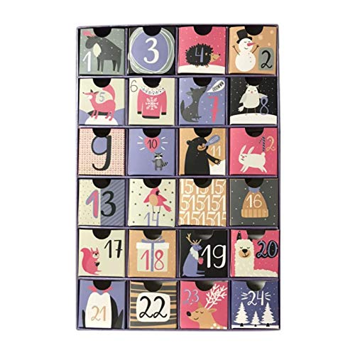Christmas Countdown Calendar December Calendar Gift Box Calendar Numbers 1-24 Drawer Gift Box Easy to Take Christmas Calendar Fun Calendar Cute Calendar for Holiday Decorations and Gifts Case