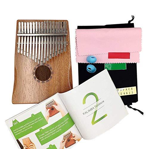 Kalimba Mbira Daumen Finger Klavier Tragbare 17 Tasten Aus Massivem Holz Musikinstrument Geschenk Für Musikliebhaber Anfänger