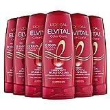 L'Oréal Paris Elvital Farbschutz Conditioner für coloriertes oder gesträhntes Haar, Color Glanz Spülung, 6 x 250 ml