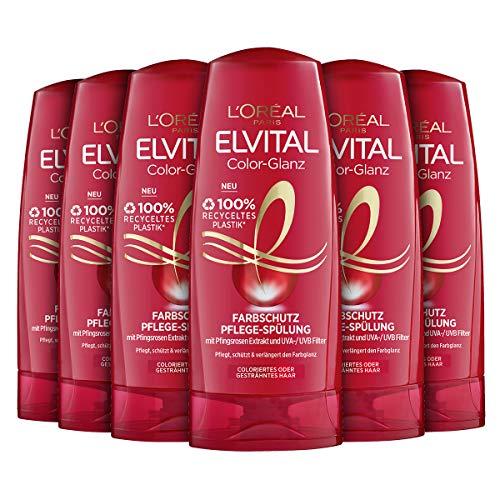 L'Oréal Paris Elvital Pflegespülung Color-Glanz, 6er Pack (6 x 250 ml)