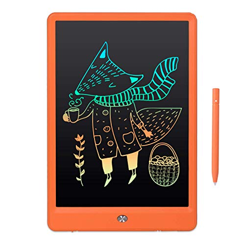10' Drawing LCD Writing Tablet Small Dry Erase White Board for Kid Brithday Toy for Children Adult Age 2+, Weekly Daily to Do List Notepad for Home Office & Car LWT92 - Rainbow Orange