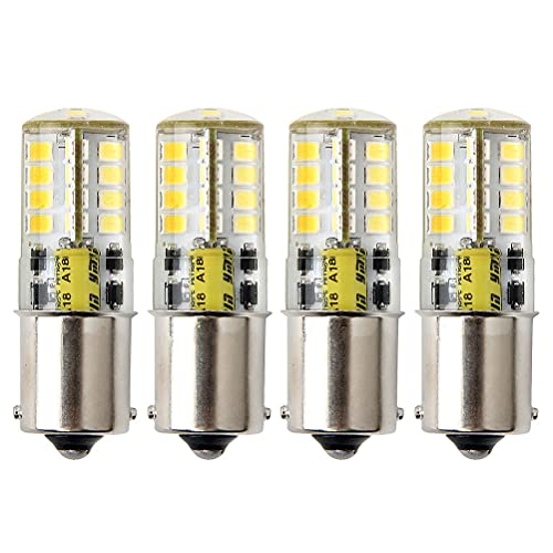 P21W Ba15s 1156 Bombilla LED, HRYSPN 12V 5W blanco frío 6000K 500LM, para Luces Traseras, Marcha Atrás Luz, barco, RV,4unidades