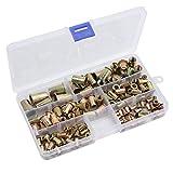 Proster Kit 150pz Dadi Filettati Assortiti M3/M4/M5/M6/M8/M10 Rivetti Filettati in Acciaio al Carbonio Zincato per Rivettatrice