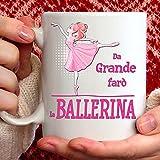 Tazza BALLERINA. Il gadget regalo per ogni donna, ragazza e bambina che ama il ballo