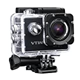 VTIN WIFI 2,0 Zoll wasserdichte Camera Helmkamera Full HD 1080p, 12MP, 170 ° Weitwinkel Glass...