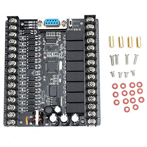 Programmierbare Steuerplatine, SPS Industrielle Steuerplatine FX1N-20MR Online Download Monitor Programmierbare Steuerung DC 24V(20MR)