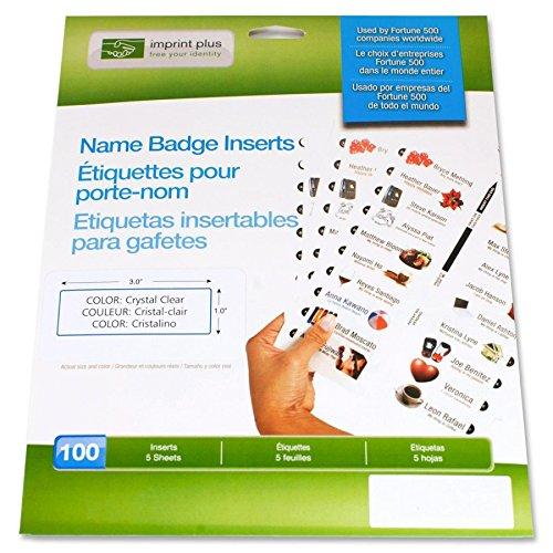 Opdruk Plus The Mighty Pin inlegblad 2,54 x 7,62 cm (voor alle printers, wit, 5 vellen