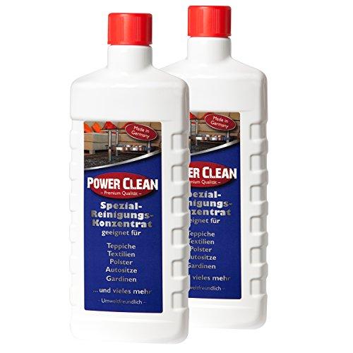 (19,95€/L) Teppichreiniger, Polsterreiniger Power Clean Spezial-Reinigungs-Konzentrat Spar Set.