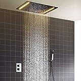 hm Set para la ducha,360x500mm LED multifuncional termostático Sistema de ducha,,...
