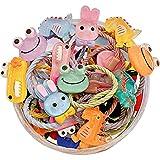 Anjetan Decorativo Rizado Elástico Trenzado Lazo Lindo Pequeño 30 Piezas De Dibujos Animados Cuerda De Pelo Banda De Pelo Coleta Titular Para Niños