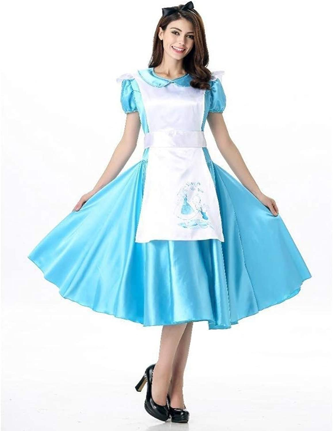 FashionCos1 bluee Halloween Costume For Kids Party Cute Maid Dress Cosplay Fancy Carnival Costumes Girls Anime Role Play