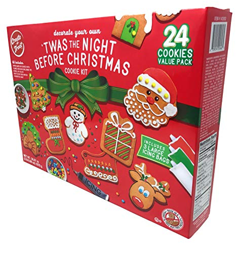 Create-A-Treat Gingerbread Cookie Decorating Kit Value Pack, 24 Cookies, 38.07 oz.
