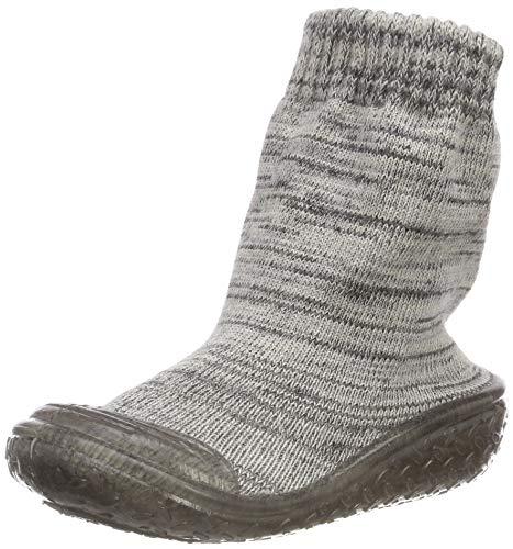 Playshoes Unisex-Kinder Socke gestrickt Hohe Hausschuhe, Grau (Grau 33), 24/25 EU