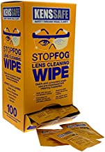 KENSSAFE StopFog: Anti-Fog Lens Cleaning Wipes (100pc Pack)