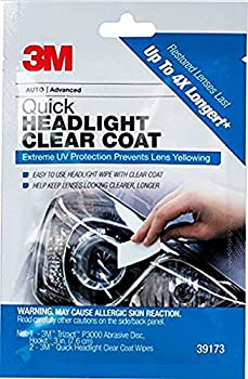 3M Quick Headlight Clear Coat Cleans and Prevents Lens Yellowing