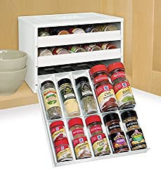 Spice Cabinet Organization Ideas with Pull down spice rack