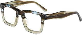 Vintage Oversized Thick Glasses with Clear Lens, Designed Eyewear Glasses Frame Unisex