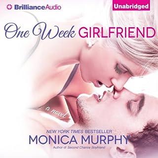 One Week Girlfriend audiobook cover art
