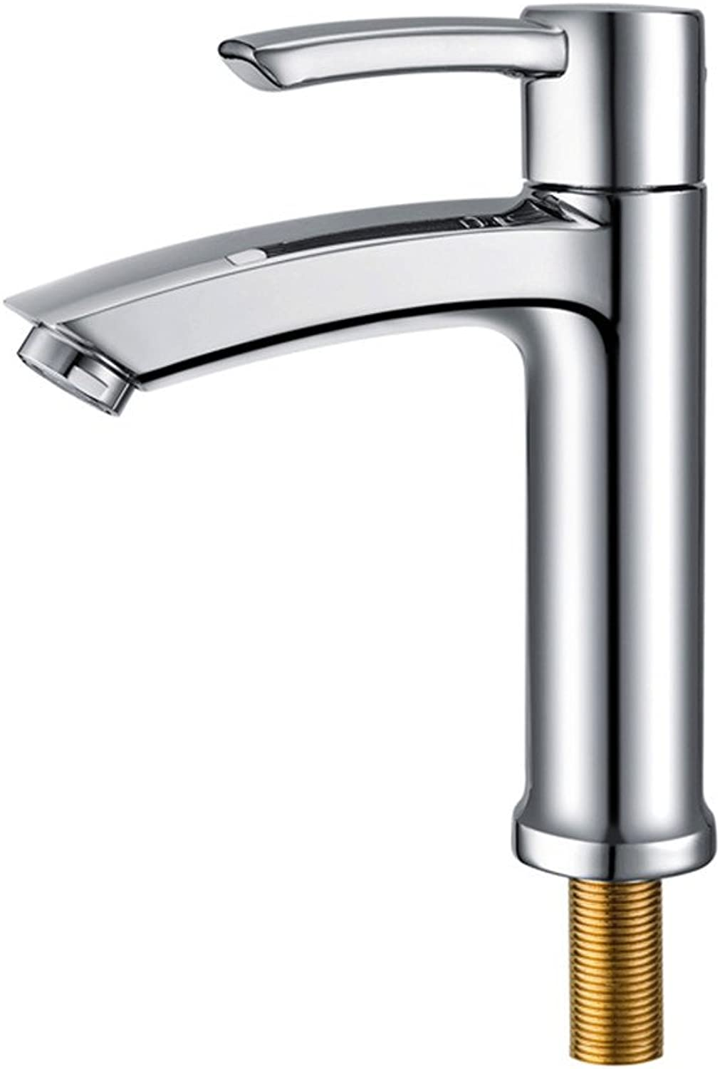 Hlluya Professional Sink Mixer Tap Kitchen Faucet Single cold basin faucet vanity sink lowered basin mixer full copper single cold water taps 953