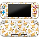 Cavka Vinyl Decal Skin Compatible with Console Switch Lite (2019) Stickers with Design Kawaii Fox Pattern Glasses Durable Cover Lizard Faceplate Print Cacti Animals Cute Wrap Snake Protector Full Set