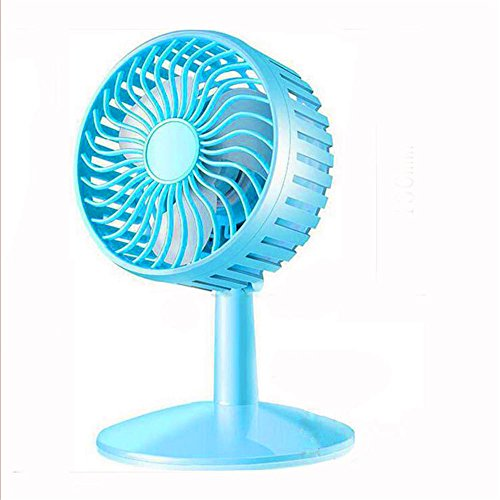 Mini fan car-mini ventilatore ventola ricaricabile, blu
